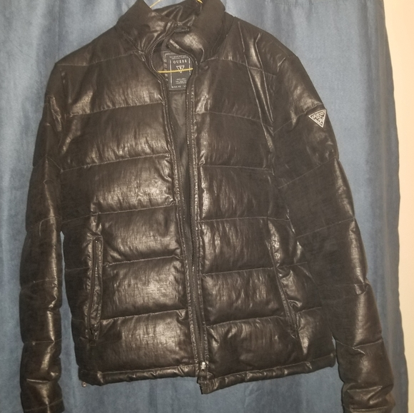 Black down filled men's jacket size XL
